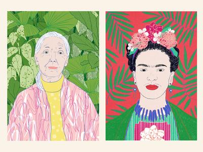 Jane Goodall | Frida Kahlo