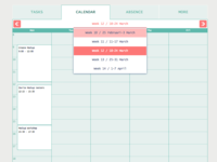 simple workday calendar
