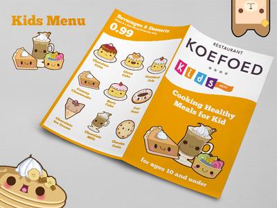 Kids Menu menu design layout catalog booklet adobe photoshop adobe indesign