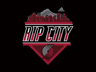 Rip City design portland trail blazers apparel graphics apparel design nba basketball adidas sports apparel