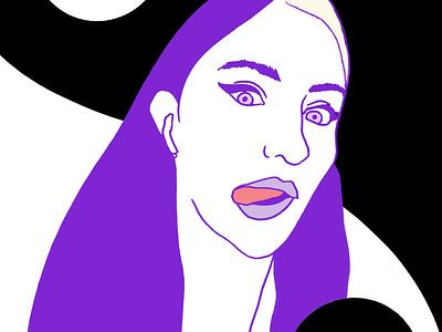 Self Portrait web design illustration