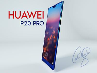 Phone Huawei p20 pro C4D banner ad website cinema4d photoshop phone huawei