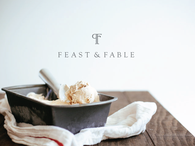 Feast and Fable Logo Design kinfolk food icon branding identity vector logotype branding design branding logo branding and identity foodlogo foodblog