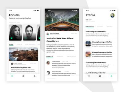 Hello, Dribbble! ios debut detail mobile profile forums