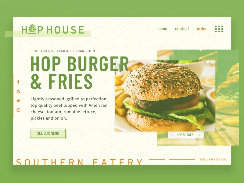 Hop House Landing Page by Ben Fieker on Dribbble