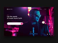 Music webpage
