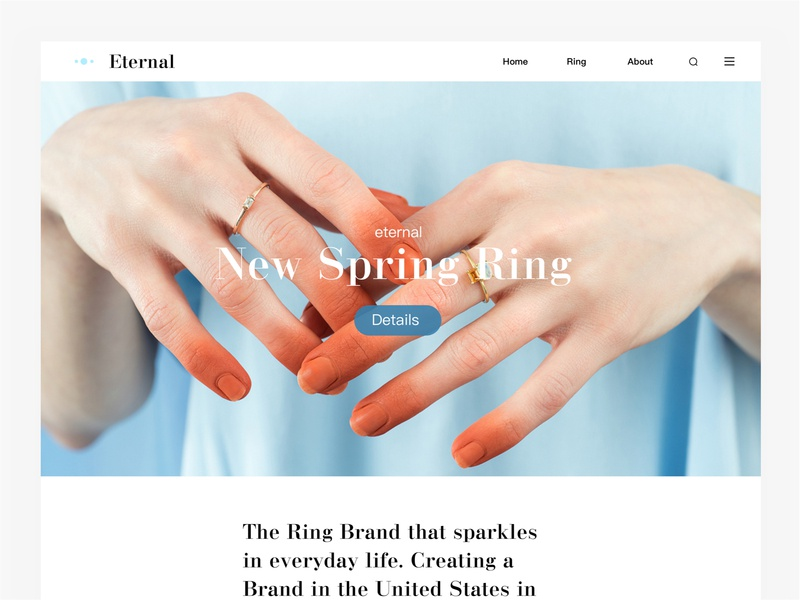 Eternal Ring webpage ring diamond ring 应用 web app ui