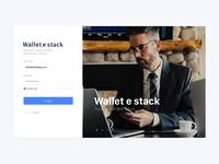 Background login design of wallet e-stack
