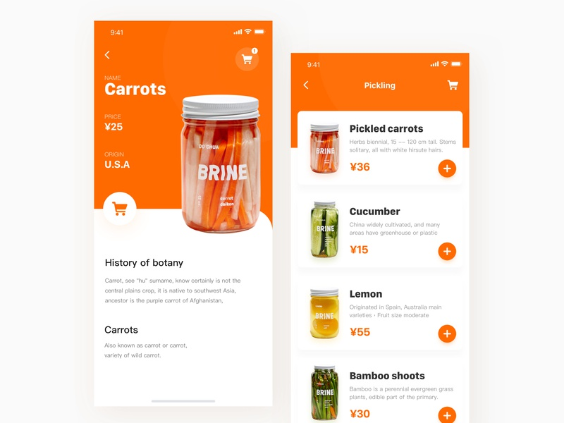 Food shopping food ux ue ui