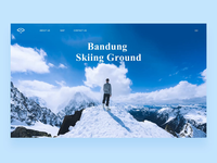 Skiing Ground Web Page Effect