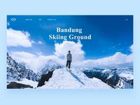 Skiing Ground Web Page Effect ue ui skiing