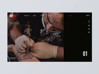 Scroll Animation of Tattoo Website Pictures