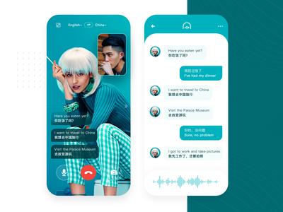 Video chat simultaneous translation