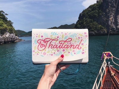 Thailand Travel Lettering