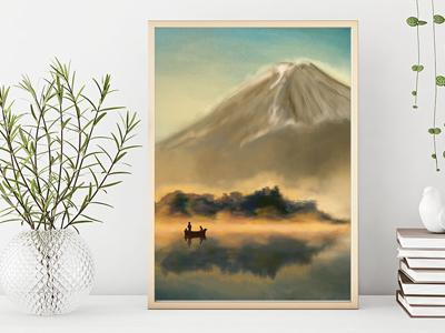 Mt. Fiji Painting