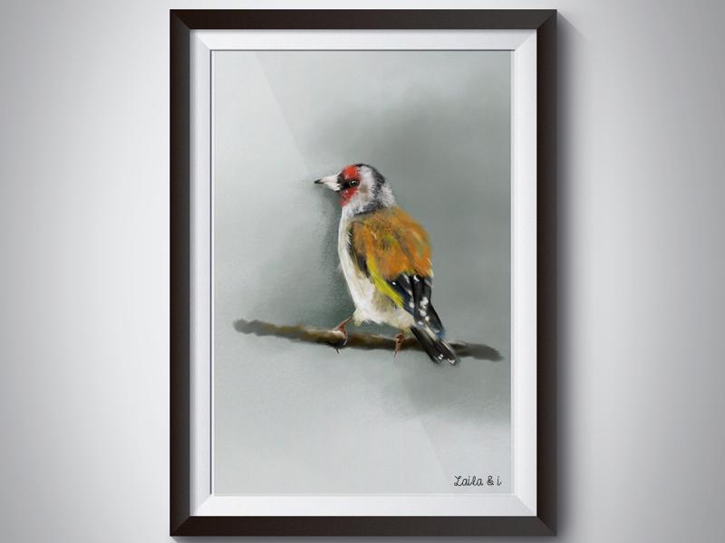 Bird yellow sale print bird photoshop inspiration colour concept nature design illustration digital painting