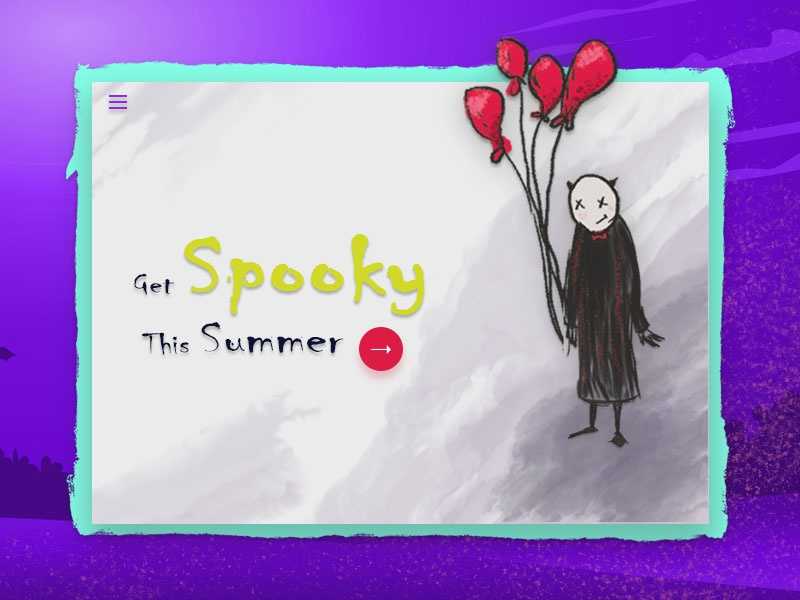 Spooky Summer ux ui web designer design artist web page landingpage colors illustration art