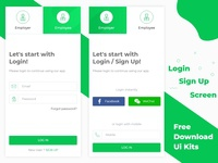 Login / Sign Up Screen