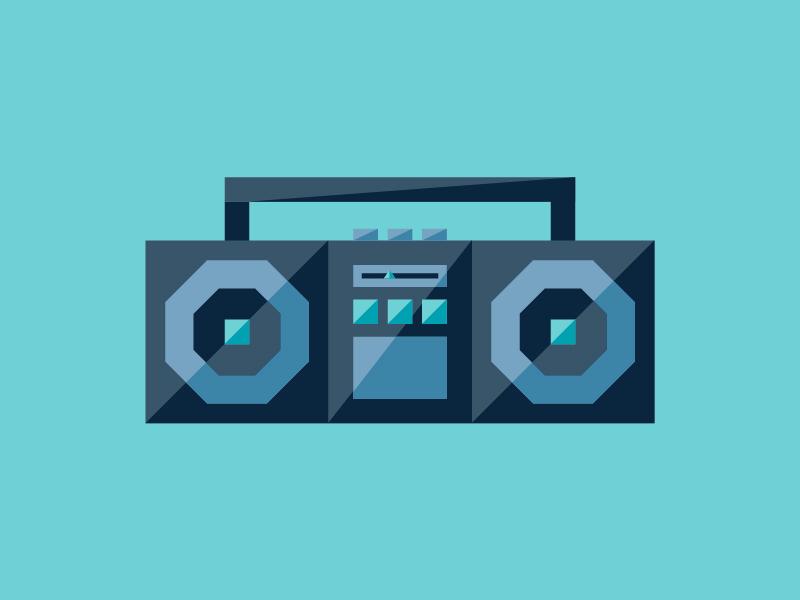 BOOMBOX design illustration sound music boombox