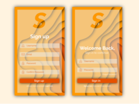 Mobile Signup and Signin Page