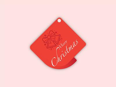 Holiday Gift Tag | Weekly Warm-Up vector present gift tag gift dribbbleweeklywarmup design christmas ball christmas tag christmas