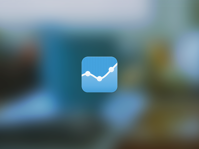 Analytics app icon icon ios analytics stats iphone ipad blue