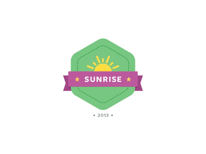 Sunrisebadge