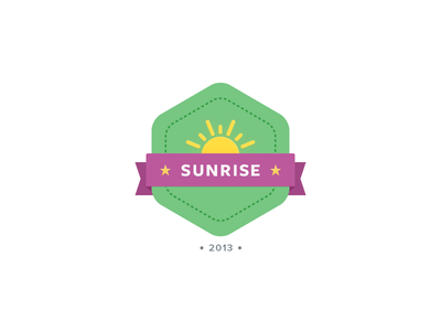 Sunrise Badge badge illustration chatid green