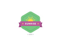 Sunrise Badge