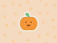 Pumpkin sticker illustration pumpkin