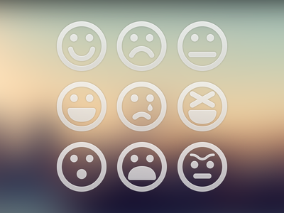 9 Emoticons emoticons plain simple free psd
