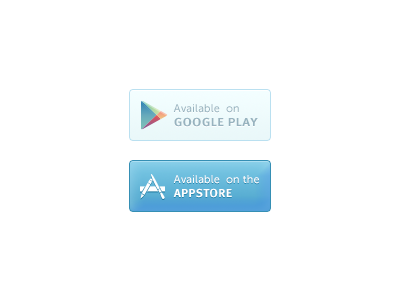 Google Play, Appstore Buttons appstore button download psd free google play