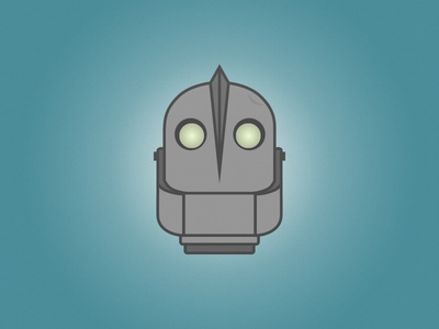 The Iron Giant illustration rebound vector