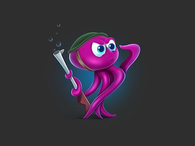 Octopus guardian octopus cartoons game render graphic game art 2d art illustration art