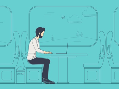 Life of a Creative: Train Journey Illustration