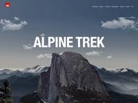 AlpineTrek Website Concept