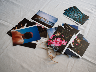 POSTCARDS OVER EMAILS layout design personal project travel photography travel film photography postcards printed matter paper grid photography print