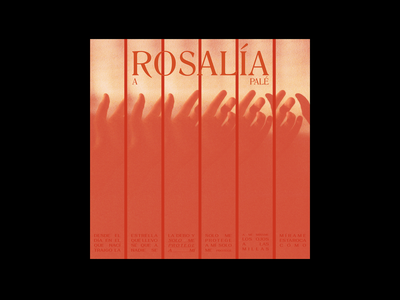 Album cover 090620 red packaging cd cover music artwork rosalia song music cover design album cover music paper photography grid type print layout typography