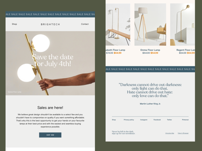 Newsletter design brigthech newsletter design sales lightning uiuxdesign digital design digital newsletter responsive uiux design photography grid type layout typography