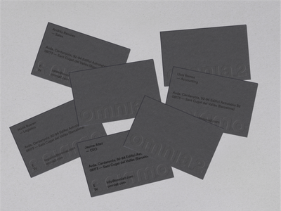 Omnia 2 — Business cards logo type grid layout print design paper typography gray printed matter print business cards