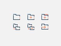 Square icon set