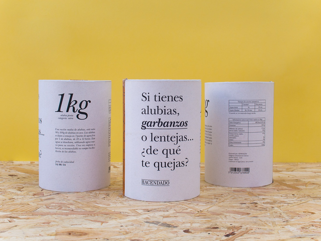 Food packaging packaging design typographic grid layout recycle carton paper jar brand food black and white typography pitch pulse chickpeas vegetables packaging
