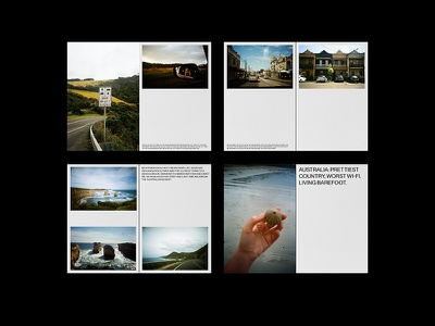 Australia spreads travel photography travel magazine book grid layout grid typography spreads filmisnotdead kodak film photography film photography publication editorial design editorial print design print
