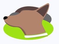 Dog Flat Logo