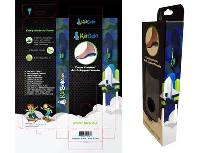 Camo Comfort kidsole packaging healthy insole children alvi studio brand design box illustration package kids illustration insole kid sole box packaging package design