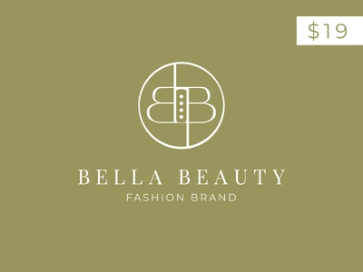 bella beauty BB letter Logo Template