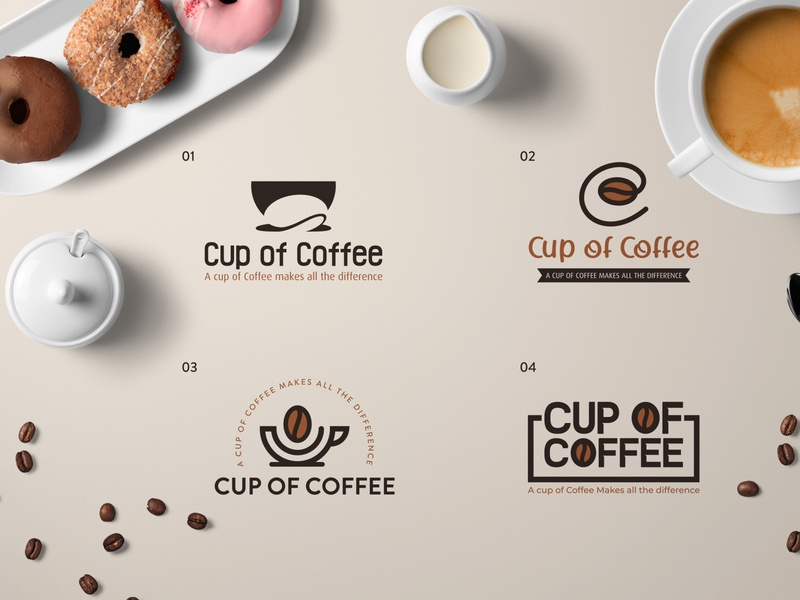 Cup Of Coffee Logo Concepts alvi studio creative work c letter illustration graphics logo identity cup coffee logo coffee bean beans tea coffee shop coffee cup