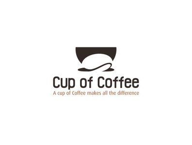 Cup of Coffee Final logo concept cup bean coffee logo mug coffee shop tea bean cup coffee