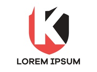 k letter shield Free Logo