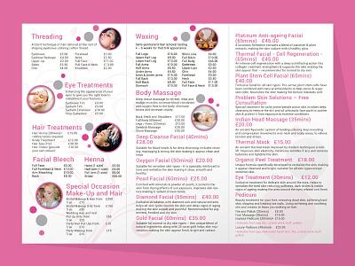 Blush Beauty Brochure Design2 vector spa skin care salon poster hair flyer design cosmetics brochure beauty